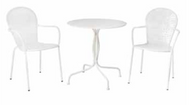 Martini Iron Bistro Set Bianca