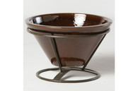 Table Top Beverage Cooler / Planter - Cognac