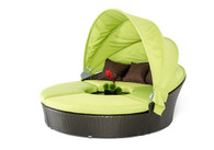 Bari Outdoor Lime Green Sofa Set w/ Canopy