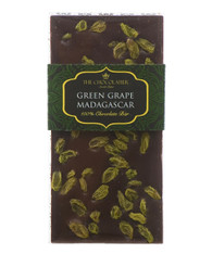100% Dark Madagascan Chocolate Bar with Green Grapes