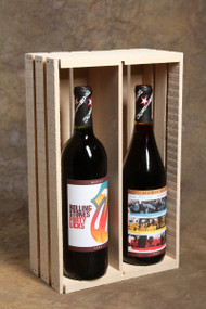 Double Bottle Wine Crate