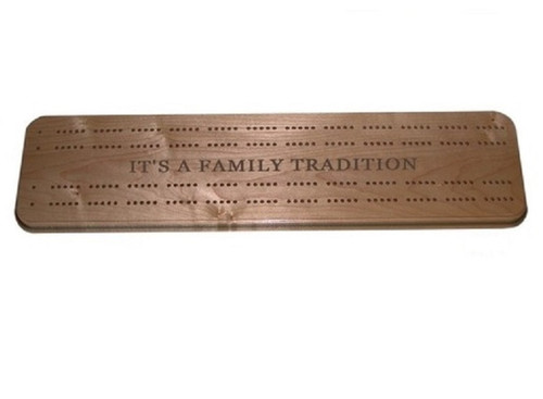 Wooden Cribbage boards make playing fun - shown here in Walnut,
