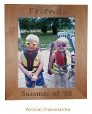 "This Red Alder frame holds a 5x7"" photograph in either a horizontal or vertical format."