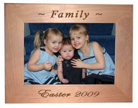 """Family Photo Frame holds a 4x6"""" picture, either horizontal or vertical"""
