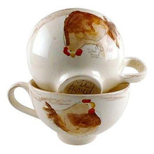 Poulet wide mug with handles
