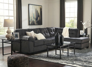 Accrington Granite Left Arm/Right Arm Facing Sectional & Laney Table Set