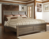 Juararo Dark Brown King with Cal King Panel Headboard