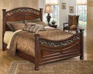 Leahlyn Warm Brown Queen Panel Bed