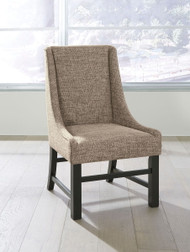 Sommerford Black/Brown Dining Upholstered Arm Chair (2/CN)