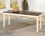 Whitesburg Brown with Cottage White Large Dining Room Bench