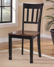 Owingsville Black with Brown Dining Room Side Chair