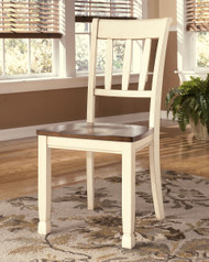 Whitesburg Brown with Cottage White Dining Room Side Chair