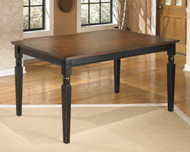 Owingsville Black with Brown Rectangular Dining Room Table