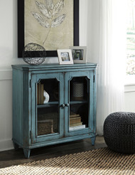 Mirimyn Teal Door Accent Cabinet
