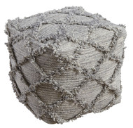 Adelphie Natural with Gray Pouf