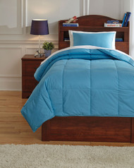 Plainfield Aqua Twin Comforter Set