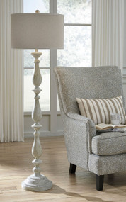 Bernadate Whitewash Poly Floor Lamp