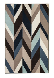 Keelia Blue with Brown with Gray Medium Rug