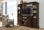 Porter Entertainment Center Large TV Stand, Right with Left Piers & Bridge