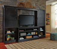 Sharlowe Charcoal LG TV Stand, 2 Piers & Bridge and Sliding Doors