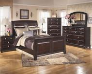 Ridgley 7 Piece Dresser, Mirror, Chest, Queen Sleigh Bed & Nightstand