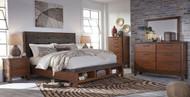 Ralene 8 Piece Dresser, Mirror, Chest, Queen Upholstered Panel Bed & 2 Nightstands