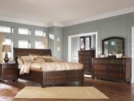 Porter Rustic Brown 7 Pc. Dresser, Mirror, Chest, Queen Sleigh Storage Bed & Nightstand
