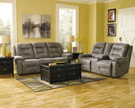 Rotation Smoke 5 Piece Reclining Power Sofa, Double Reclining Power Loveseat with Console, Lift Top Cocktail Table & 2 Rectangular End Tables