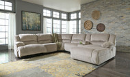 Toletta Granite LAF Zero Wall Power Recliner, Armless Recliner, Wedge, Armless Chair, Console with Storage & RAF Press Back Power Chaise
