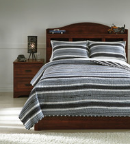Merlin Gray/Cream Full Coverlet Set