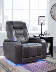 Composer Gray Power Recliner/Adjustable Headrest
