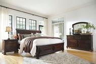 Porter Rustic Brown 5 Pc. Dresser, Mirror & Queen Sleigh Storage Bed