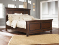 Porter Rustic Brown King Panel Bed