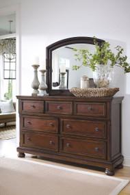 Porter Rustic Brown Dresser & Mirror