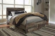 Derekson Multi Gray Queen Storage Footboard Bed