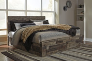 Derekson Multi Gray King Panel Storage Bed