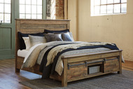 Sommerford Brown California King Storage Bed