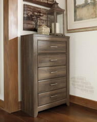 Juararo Dark Brown Five Drawer Chest