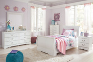 Anarasia White 6 Pc. Kids Twin Bedroom Collection