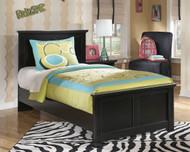 Maribel Black Twin Panel Bed