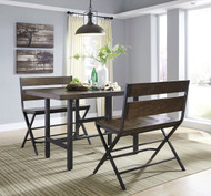 Kavara Medium Brown 3 Pc. Rectangular Counter Height  Dining Set