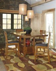 Ralene Medium Brown 5 Pc. Rectangular Extension Dining Set
