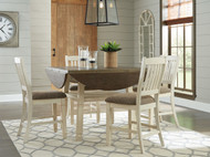 Bolanburg Two-tone 5 Pc. Round Drop Leaf Counter Height Dining Set