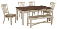 Bolanburg Antique White Pc. Rectangular Dining Set