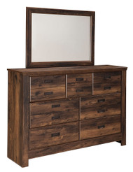 Quinden Dark Brown Dresser