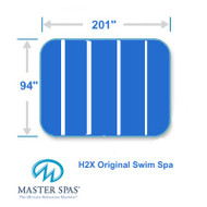 "Master Spas 94"" X  201"" H2X Original Swim Spa Five Piece"