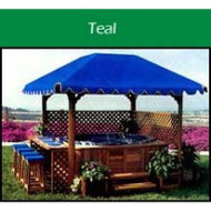 Gazebo COVER for Pacifica III, teal
