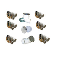 PLUMBING KIT: HYDRABATH FUTURA CHROME 3-80-5130
