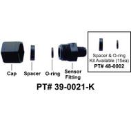HydroQuip / Balboa Sensor Fitting, M7, Complete - Part # 39-0021-K