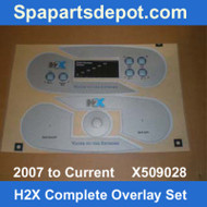 Master Spas H2X 2007 To Current Complete Overlay Set X509028